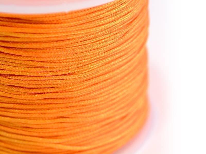 1 m de fil de jade / fil nylon tressé 1 mm - orange