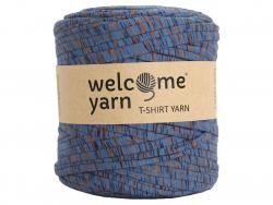 Acheter Grande bobine de fil trapilho - Bleu jean à fines rayures bleues et oranges - 7,90€ en ligne sur La Petite Epicerie ...