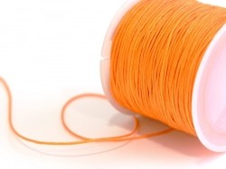 1 m de fil de jade / fil nylon tressé 1 mm - orange
