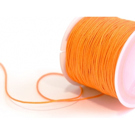 1 m of braided nylon cord, 1 mm - orange