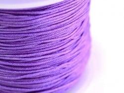1 m de fil de jade / fil nylon tressé 1 mm - mauve  - 1