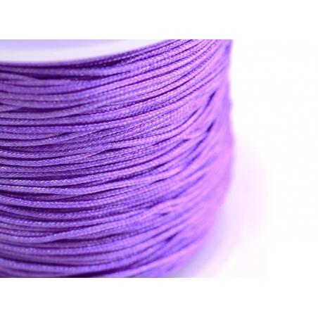 1 m of braided nylon cord, 1 mm - mauve