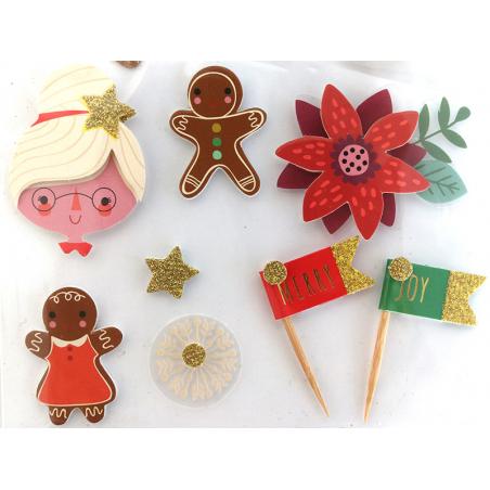 Acheter 13 stickers Noel effet 3D - 4,29€ en ligne sur La Petite Epicerie - Loisirs créatifs