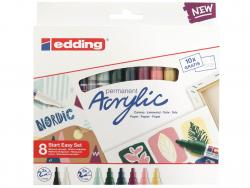 Acheter Set Start Easy Nordic - 8 marqueurs acrylique - edding - 24,49€ en ligne sur La Petite Epicerie - Loisirs créatifs