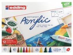 Acheter Set Créatif Basic - 12 marqueurs acrylique - edding - 45,49€ en ligne sur La Petite Epicerie - Loisirs créatifs