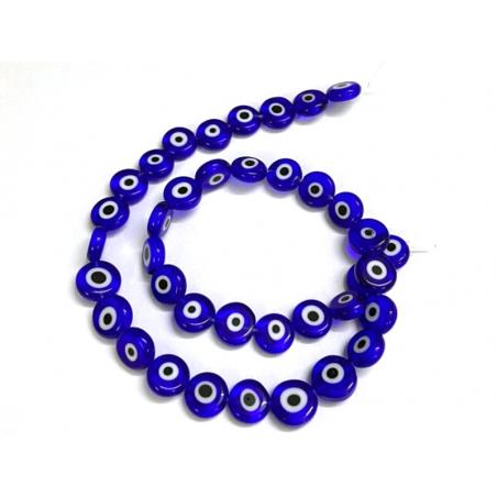 Acheter 20 perles rondes en verre - œil porte bonheur - bleu roi - 6 mm - 1,59€ en ligne sur La Petite Epicerie - Loisirs cr...