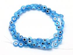 Acheter 20 perles rondes en verre - œil porte bonheur - bleu turquoise - 6 mm - 1,39€ en ligne sur La Petite Epicerie - Lois...