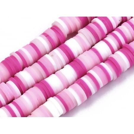 Acheter Boite de perles rondelles heishi 6 mm - assortiment rose - 1,99€ en ligne sur La Petite Epicerie - Loisirs créatifs