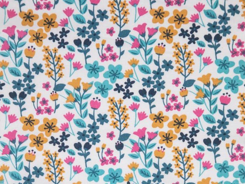 Acheter Tissu coton Oeko-Tex – Milly turquoise et bégonia - 0,89€ en ligne sur La Petite Epicerie - Loisirs créatifs