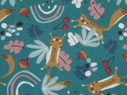 Acheter Tissu coton Oeko-Tex – Loustic vert et ocre - 0,89€ en ligne sur La Petite Epicerie - Loisirs créatifs