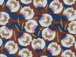 Acheter Tissu viscose Oeko-Tex – Dimeo rouille et bleu marine - 1,20€ en ligne sur La Petite Epicerie - Loisirs créatifs