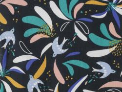 Acheter Tissu viscose Oeko-Tex – Lisboa nuit et vert - 1,20€ en ligne sur La Petite Epicerie - Loisirs créatifs