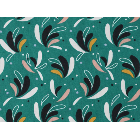 Acheter Tissu viscose Oeko-Tex – Modia vert et bleu nuit - 1,20€ en ligne sur La Petite Epicerie - Loisirs créatifs