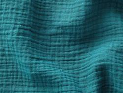 Acheter Tissu double gaze gaufrée – Emeraude - 1,15€ en ligne sur La Petite Epicerie - Loisirs créatifs