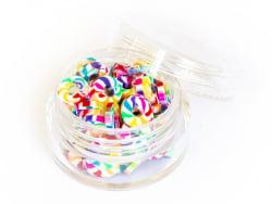 Acheter Boite de perles rondelles heishi 6 mm - multicolore arc-en-ciel - 1,99€ en ligne sur La Petite Epicerie - Loisirs cr...