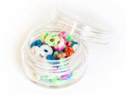 Acheter Boite de perles rondelles heishi 6 mm - pastel multicolore - 1,99€ en ligne sur La Petite Epicerie - Loisirs créatifs