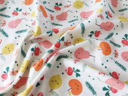 Acheter Tissu coton Oeko-Tex – Fruits et légumes mignons - 0,89€ en ligne sur La Petite Epicerie - Loisirs créatifs