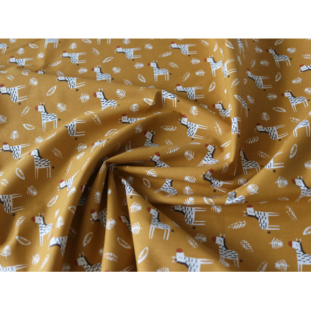 Acheter Tissu coton Oeko-Tex – Zoubro noisette et sépia - 0,89€ en ligne sur La Petite Epicerie - Loisirs créatifs