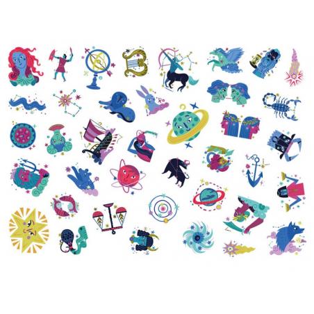 Acheter Mes P'Tits Tattoos - Constellations - 4,95€ en ligne sur La Petite Epicerie - Loisirs créatifs