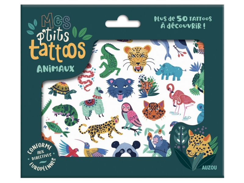 Acheter Mes P'Tits Tattoos - Animaux - 4,95€ en ligne sur La Petite Epicerie - Loisirs créatifs