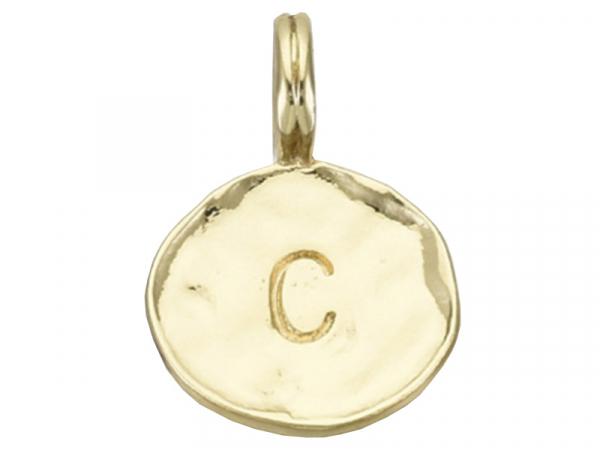Acheter Breloque ronde dorée à l'or fin 18K – C - 1,49€ en ligne sur La Petite Epicerie - Loisirs créatifs