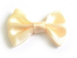 Cream-coloured bow - 3.5 cm