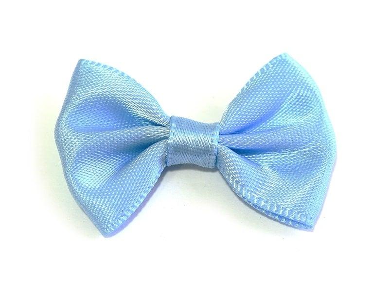 Noeud bleu ciel - 3,5 cm