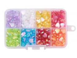 Acheter Boite d'assortiment de perles en plastique en forme de cœur - 8 couleurs - 9,99€ en ligne sur La Petite Epicerie - L...