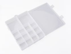 Acheter Boite de rangement pour perles - 14 compartiments - 21 x 17 x 4 cm - 9,99€ en ligne sur La Petite Epicerie - Loisirs...
