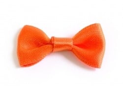 Bright orange bow - 3 cm