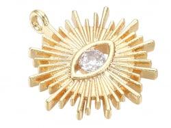 Acheter Breloque dorée à l'or fin 18K – Soleil avec œil strass blanc - 1,49€ en ligne sur La Petite Epicerie - Loisirs créatifs