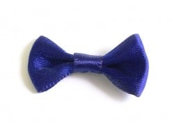 Night-blue bow - 3 cm