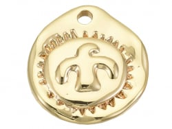 Acheter Breloque martelée dorée à l'or fin 18K – Oiseau - 1,29€ en ligne sur La Petite Epicerie - Loisirs créatifs