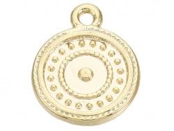 Acheter Breloque dorée à l'or fin 18 K – Cercles pointillés - 0,89€ en ligne sur La Petite Epicerie - Loisirs créatifs