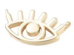 Acheter Breloque dorée à l'or fin 18 K – Oeil évidé - 0,69€ en ligne sur La Petite Epicerie - Loisirs créatifs