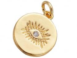Acheter Pendentif doré à l'or fin 18K – Oeil scintillant - 1,89€ en ligne sur La Petite Epicerie - Loisirs créatifs