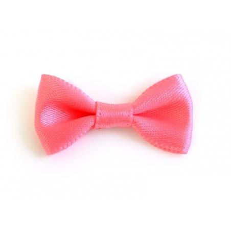 Noeud rose pêche - 3 cm