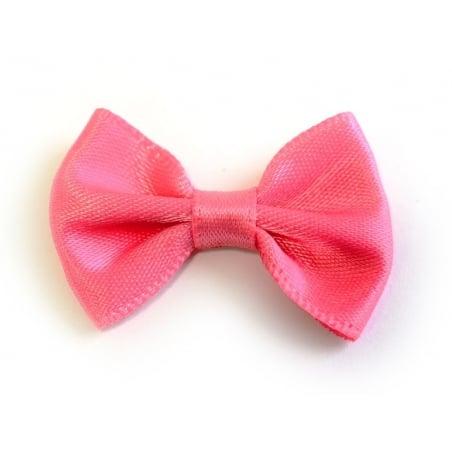 Peach pink bow - 3.5 cm