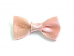 Powder pink bow - 3 cm