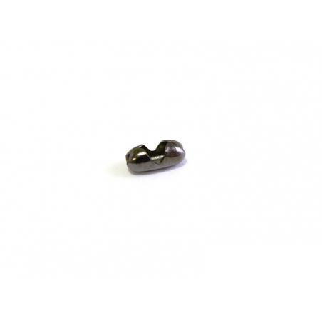 10 metallic black ball chain clasps (1.5 mm) - Size S