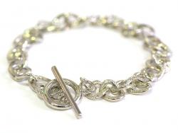 Bracelet pour breloques couleur argent foncé - fermoir toogle