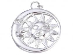 Acheter Pendentif flash argent 925 – Lune et soleil - 1,99€ en ligne sur La Petite Epicerie - Loisirs créatifs