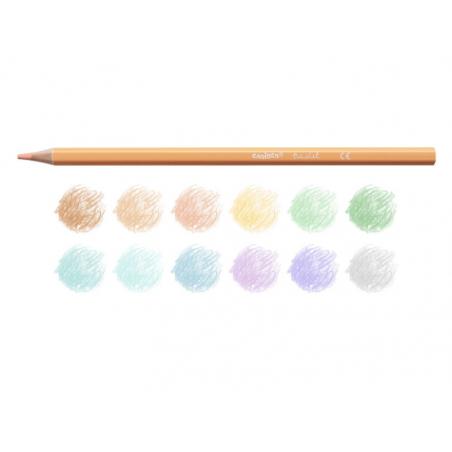 Acheter 12 crayons de couleur pastel - Carioca - 3,99€ en ligne sur La Petite Epicerie - Loisirs créatifs