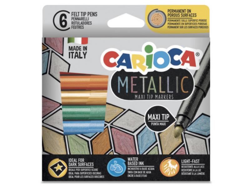 Acheter 6 feutres de couleur à pointe large - couleurs métalliques - 5,49€ en ligne sur La Petite Epicerie - Loisirs créatifs