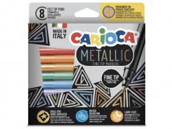 Acheter 8 feutres de couleur à pointe fine - couleurs métalliques - 5,49€ en ligne sur La Petite Epicerie - Loisirs créatifs