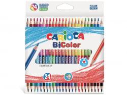 Acheter 24 crayons de couleur bicolores - soit 48 couleurs - Carioca - 5,99€ en ligne sur La Petite Epicerie - Loisirs créatifs