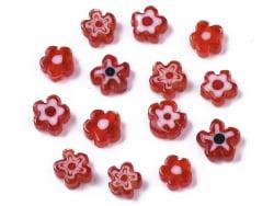 Acheter 20 perles millefiori en verre - fleur rouge - 6 mm - 4,99€ en ligne sur La Petite Epicerie - Loisirs créatifs