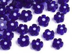 Acheter 20 perles millefiori en verre - fleur bleue foncée - 6 mm - 4,99€ en ligne sur La Petite Epicerie - Loisirs créatifs