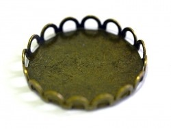 Bronzefarbene Fassung für Cabochons, 20 mm