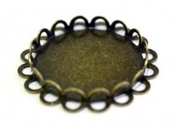 Bronzefarbene Cabochonfassung (25 mm)